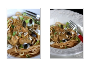 Oyster Mushroom With Pasta © Liz Collet