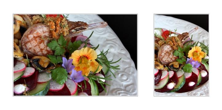 Lammkotelette mit Sommersalat © Liz Collet