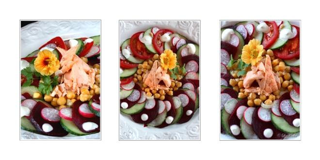 Saibling an Salat © Liz Collet