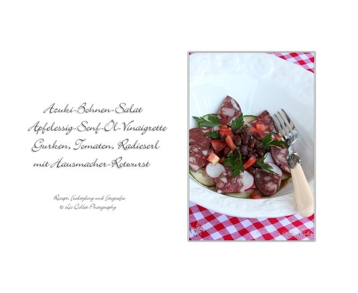 Azuki-Bohnen-Salat mit Rotwurst  © Liz Collet