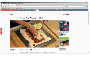 """Gesunde Pizza Alternative mit Kniff"" - Focus Online Screenshot 6.5.2014"