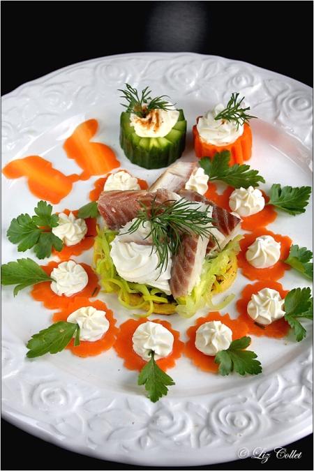 Rohkost mit Räucheraal und Meerrettich © Liz Collet, Liz Collet Foodphotography, Liz Collet Gastronomiefotografie, Catering, Gastronomie