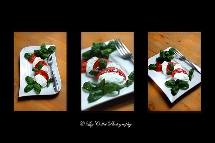 Caprese © Liz Collet, sommer, gruen, gesund, frisch, gesundheit, salat, tomate, tomaten, essen, rot, weiss, traditionell, italien, italienisch, mahlzeit, kulinarisch, kochen, kueche, gemuese, vorbereiten, schmackhaft, rund, lebensmittel, einfach, grün, produkt, gewürz, weiß, küche, abendessen, ernährung, gemüse, vegetarisch, zutaten, basilikum, caprese, vorspeise, leicht, aromatisch, käse, roh, mozzarella
