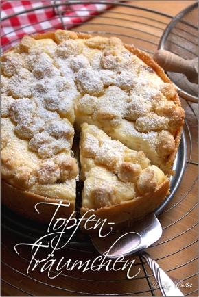 Topfen-Streusel-Kuchen © Liz Collet, Streuselkuchen, Quarkkuchen, Topfen, Quark, Kuchen, Minitorte, Minikuchen, Kleine Torten, Rezepte für kleine Torten, Streuseltorte, Quarktorte,