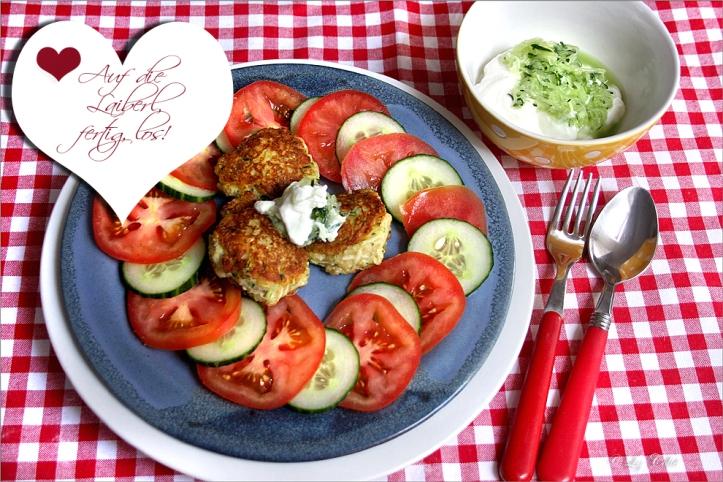 Zucchinipflanzl mit Gurkenquark © Liz Collet