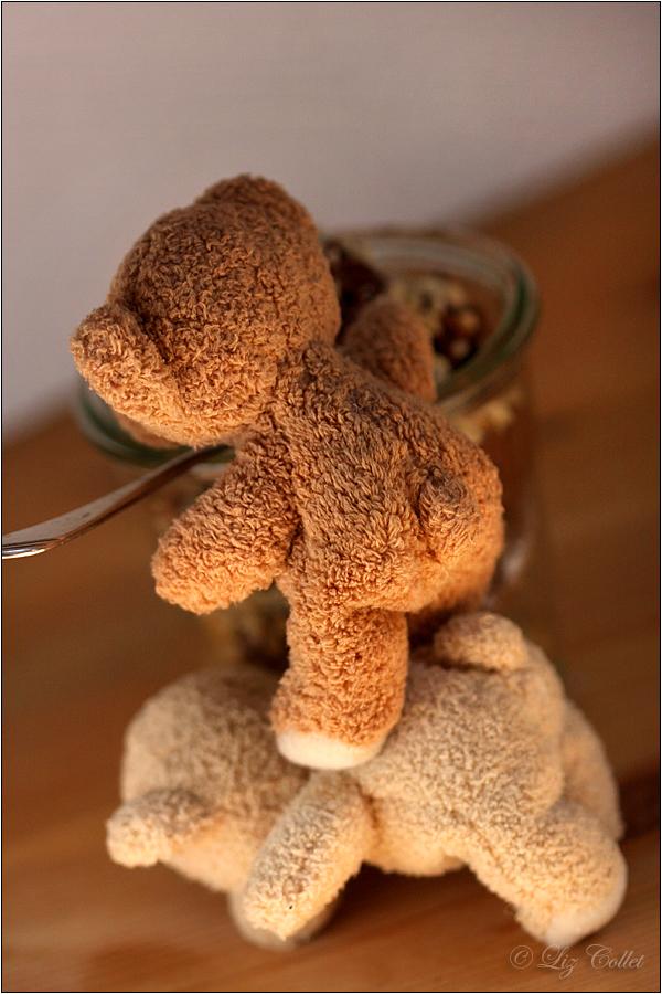 Bären, Fellracker, Dessert, Diebe, Räuber, Räuberduo, Streiche, Abenteuer, Liz Collet's Little Bears, Bärige Tied, Bärige Desserts, Bärige Zeiten, Mundraub