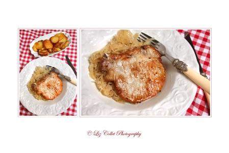 Kotelett mit Kraut und Bratkartoffeln © Liz Collet,alpenländisch, bayerisch, bayerische küche, bayern, bratkartoffel, bürgerliche küche, elsass, elsässische küche, fleisch, fleischerei, fleischgericht, fleischrezepte, foodfotografie, gastronomie, gastronomiefotografie, gastronomie-pr, gastro-pr, gemüse, genuss, gericht, gutbürgerlich, gutbürgerliche küche, gutbürgerliche rezepte, kartoffel, kohl, kotelett, kraut, kulinarik, kulinarisch, menü, metzgerei, münchner gerichte, münchner rezepte, nahrung, pfalz, pfälzer gerichte, regional, regionale gerichte, regionale küche, restaurant, rheinpfalz, röstkartoffeln, rot, rot-weiss-kariert, rotweisskariert, saftig, sauerkraut, schweinekotelett, serviette, speise, tischtuch, tourismus, voralpenland, weiss, weisskohl, weisskraut,
