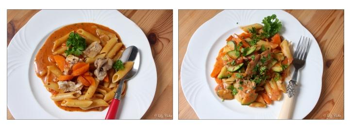 Links mit Maggi und rechts ohne Maggi © Liz Collet