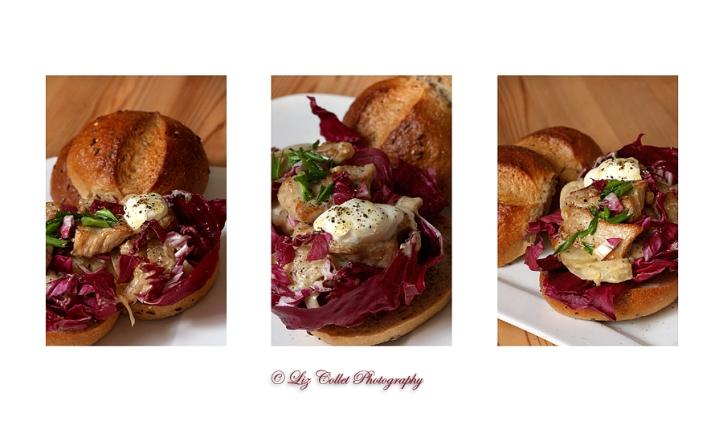 Riemische mit Fenchel-Radicchio-Gemüse und Schweinefleisch © Liz Collet