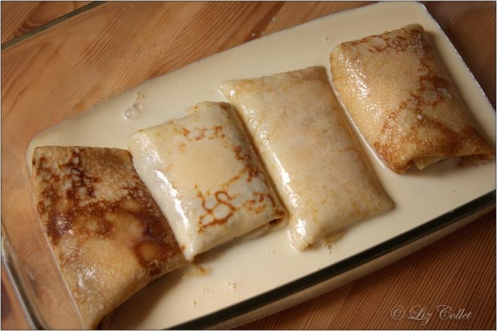 Topfen-Pfannkuchen mit Vanille-Rahm-Guss aus dem Ofen © Liz Collet