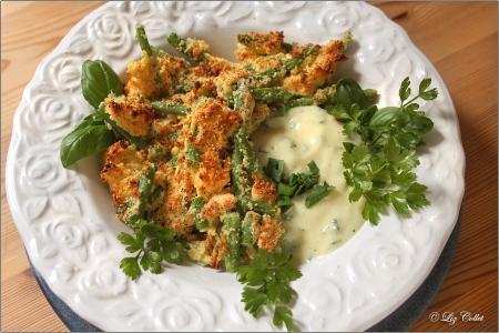 Knusprige Bohnen mit Mayonnaise oder Joghurt-Dip © Liz Collet