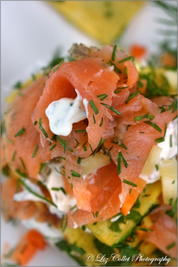 Salmon, Pancake and ...a Little Passion for Food © Liz Collet